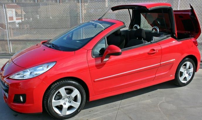 2012 peugeot 207 cc 1 6 hdi cabriolet 4 seater hard top convertible cars for sale in spain. Black Bedroom Furniture Sets. Home Design Ideas