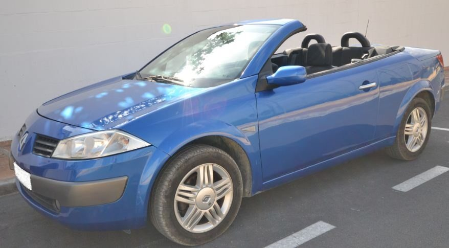 2005 renault megane cc 1 9 dci diesel cabriolet 4 seater convertible cars for sale in spain. Black Bedroom Furniture Sets. Home Design Ideas
