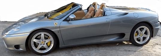 2004 Ferrari 360 Spider F1 convertible sports car for sale in Spain