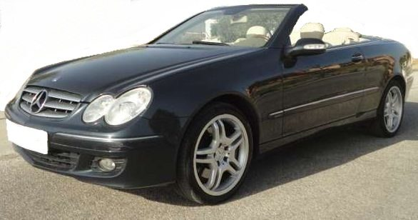 2006 Mercedes Benz CLK350 Elegance Cabriolet automatic convertible car for sale in Spain Costa del Sol Marbella Mijas Malaga