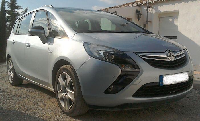 2015 UK reg right hand drive Vauxhall Zafira Tourer 7 seater mpv for sale in Spain Granada Baza Almeria