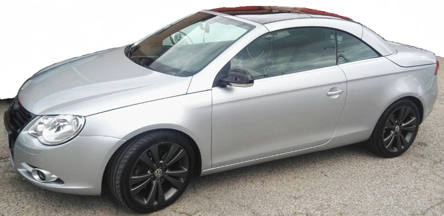 2008 volkswagen eos 2 0 diesel automatic cabriolet hard top convertible cars for sale in spain. Black Bedroom Furniture Sets. Home Design Ideas