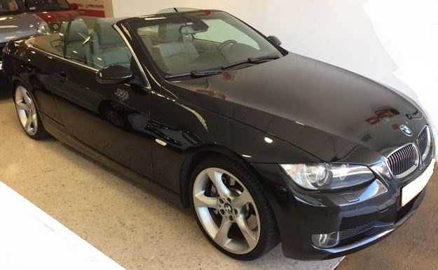 2009 BMW 330d cabriolet diesel automatic 4 seater hard top convertible car for sale in Spain Costa del Sol Marbella Mijas Costa Malaga