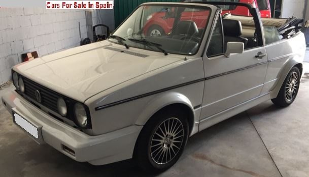 1991 Volkswagen Golf MK1 1.8 GTi cabriolet convertible car for sale in Spain Costa del Sol Marbella Mijas Costa Malaga