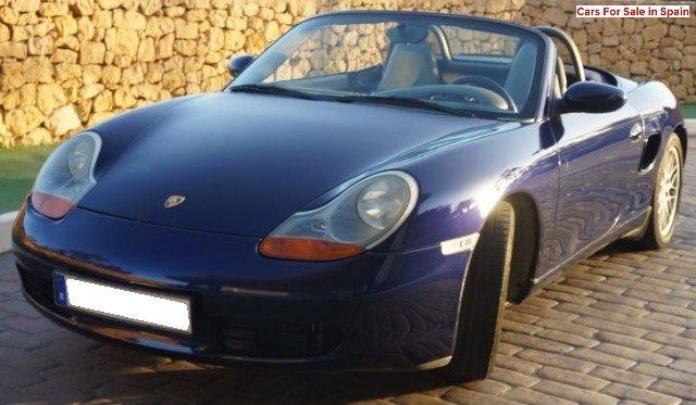 2000 Porsche Boxster 2.7 Cabriolet 2 seater convertible sports car for sale in Spain Costa Blanca Alicante Benidorm Altea Calpe Moraira