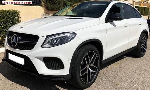 2015 Mercedes-Benz GLE350d AMG Coupe 4matic automatic 4x4 suv for sale in Spain Costa del Sol Marbella Mijas Costa Malaga