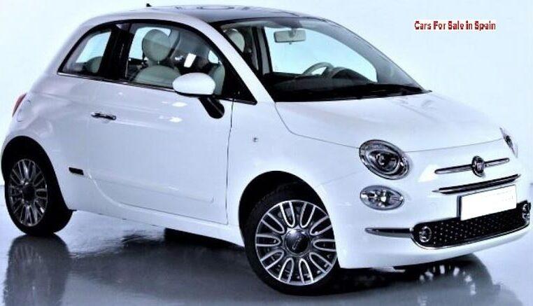 2017 Fiat 500 1.2 Lounge automatic 3 door hatchback car for sale in Spain Costa del Sol Marbella Mijas Costa Malaga