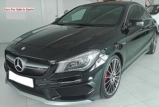 2015 Mercedes Benz CLA45 AMG 4matic 7G DCT automatic saloon car for sale in Spain Costa del Sol Marbella Mijas Costa Malaga
