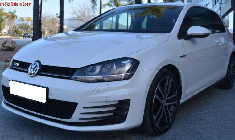 2015 Volkswagen Golf 2.0 TDi CR BMT GTD DSG 3 door hatchback car for sale in Spain Costa del Sol Marbella Mijas Costa Malaga