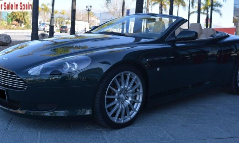 2007 Aston Martin DB9 Volante touchtronic 2 automatic luxury convertible sports car for sale in Spain Costa del Sol Marbella Mijas Costa Malaga