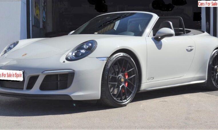 2017 Porsche 911 Carrera 4 GTS Cabriolet convertible sports car for sale in Spain Costa del Sol Marbella Mijas Costa Malaga