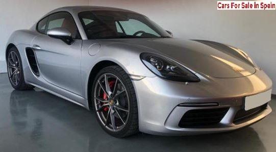 2017 Porsche Cayman S coupe sports car for sale in Spain Costa del Sol Marbella Mijas Costa Malaga