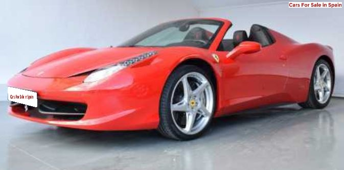 2012 Ferrari 458 Spider V8 coupe sports car for sale in Spain Costa del Sol Marbella Mijas Costa Malaga